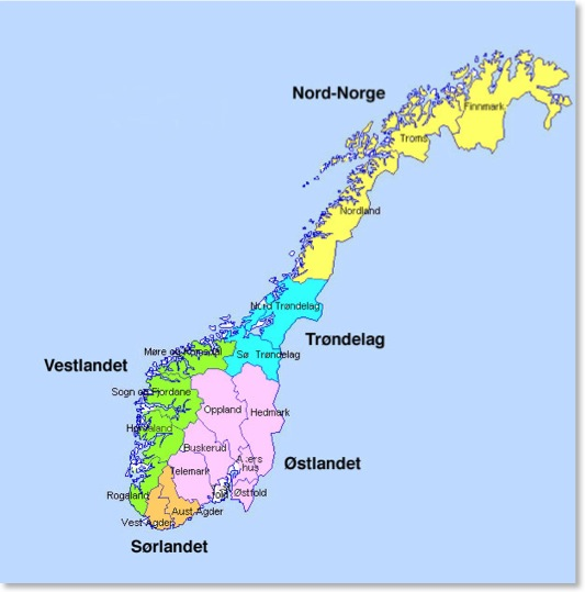 WeExplore Adventure Learning Environment - Norway language map